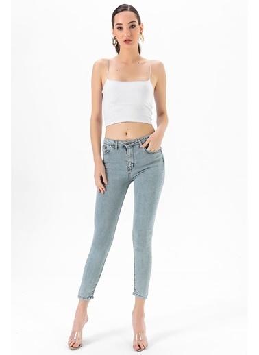Tiffany&Tomato Skinny Yüksek Bel Jean Pantolon - Gri Gri